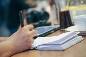 למידה וכתיבה במחברת