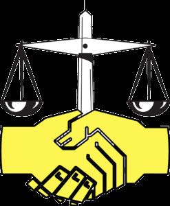 מאזניים ולחיצת ידיים